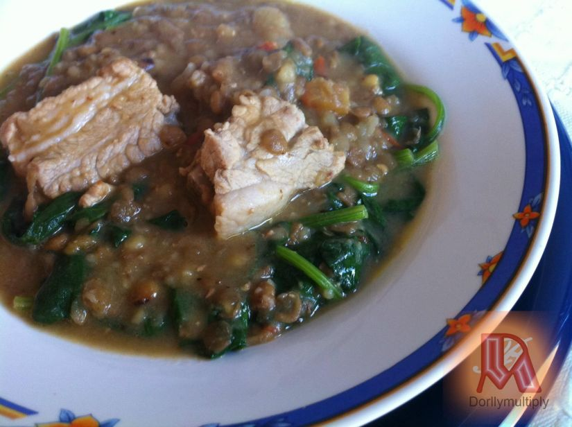 SPARERIBS IN MONGO-SPINACH