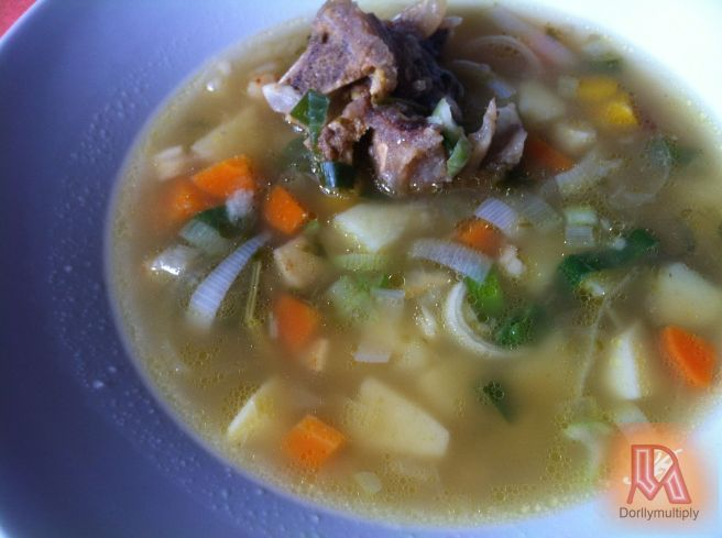 Soup Greens with Beef Bones