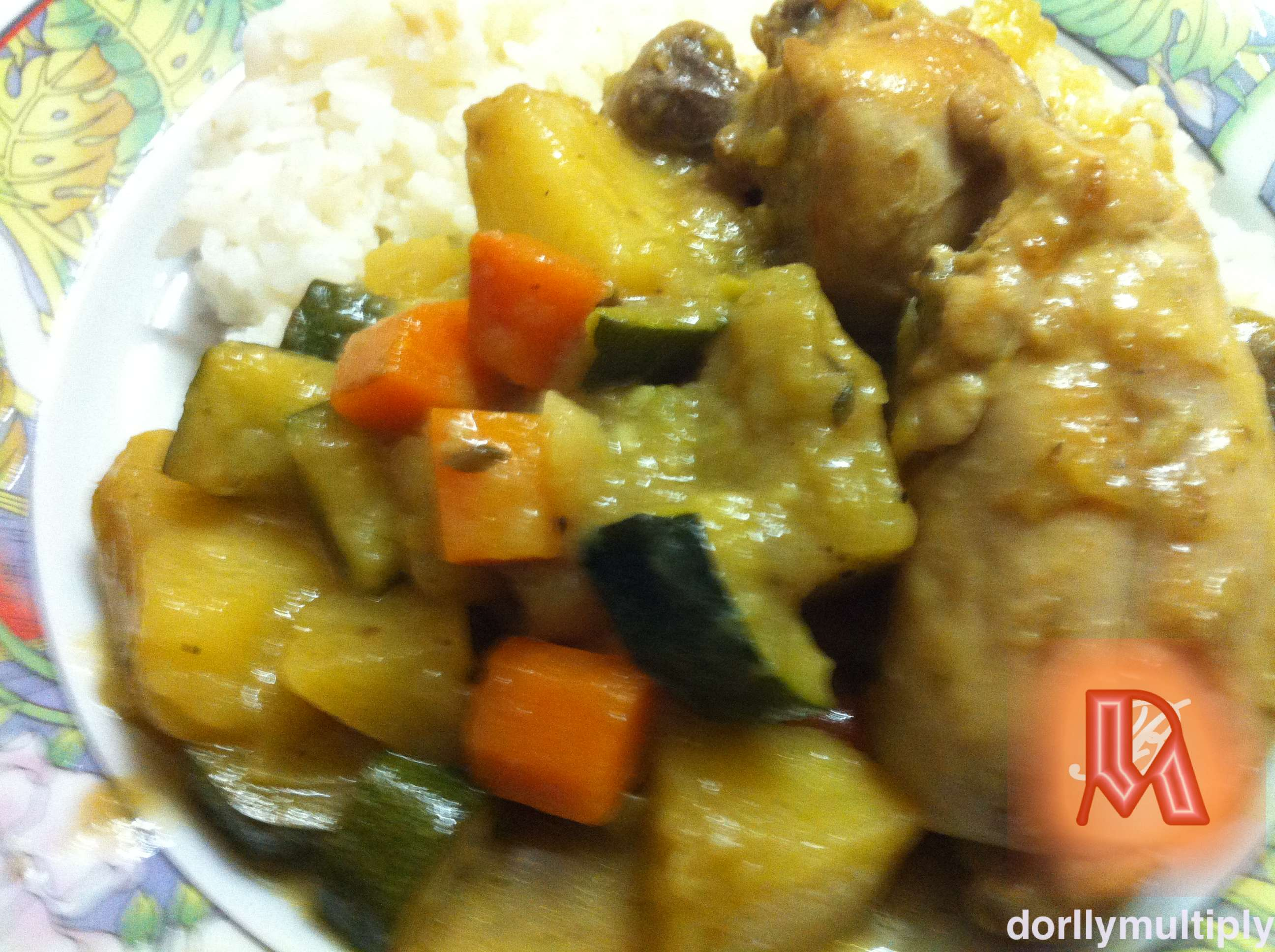 CHICKEN STEW with CURRY and THYME