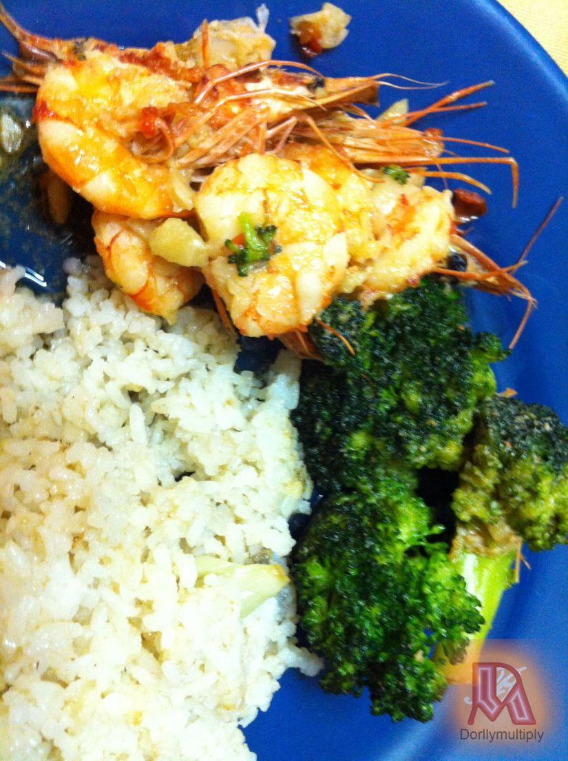 Shrimps and Broccoli with Chili Sauce