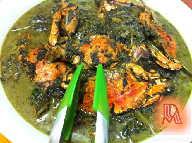 Spinach and Crab Ginataan
