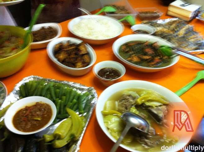 The meal for dinner
