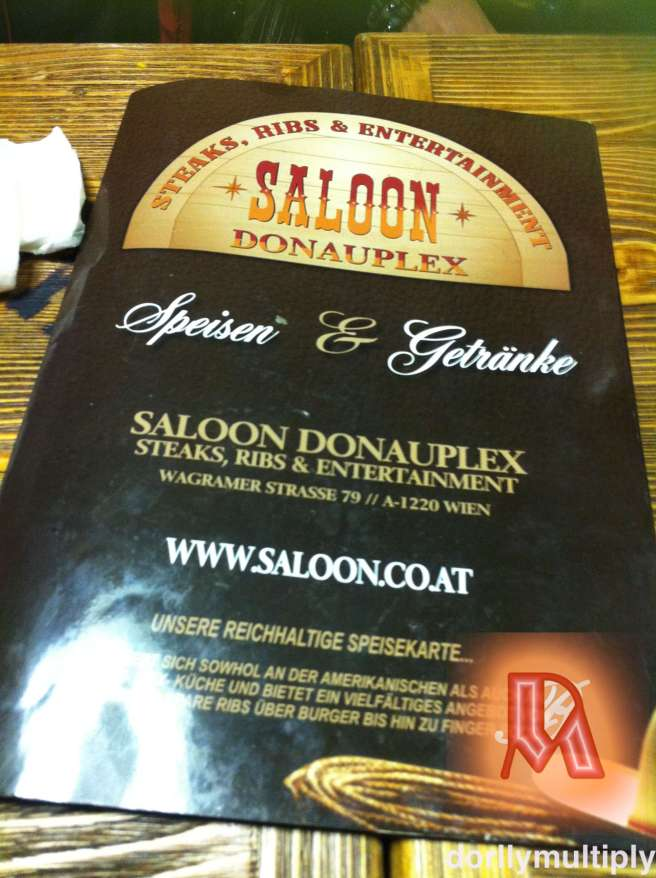 Menu Card of Saloon Donauplex