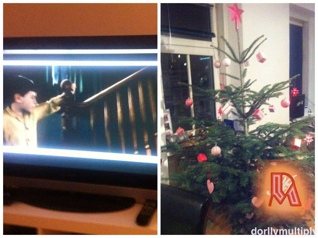 Watching Polar Express and Christmas Tree not finish!