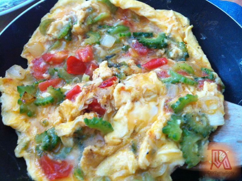 AMPALYA WITH EGG and TOMATOES
